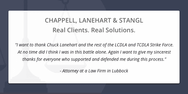 Client testimonial from attorney at a law firm in Lubbock