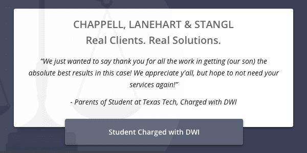 Client testimonial from parents of a Texas Tech student charged with DWI