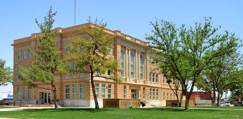 Terry County Courthouse near Lubbock Texas